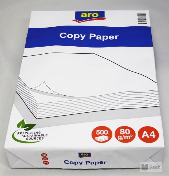 2500 blatt aro kopierpapier papier wei 80 g m din a4 5 x 500 blatt ebay. Black Bedroom Furniture Sets. Home Design Ideas