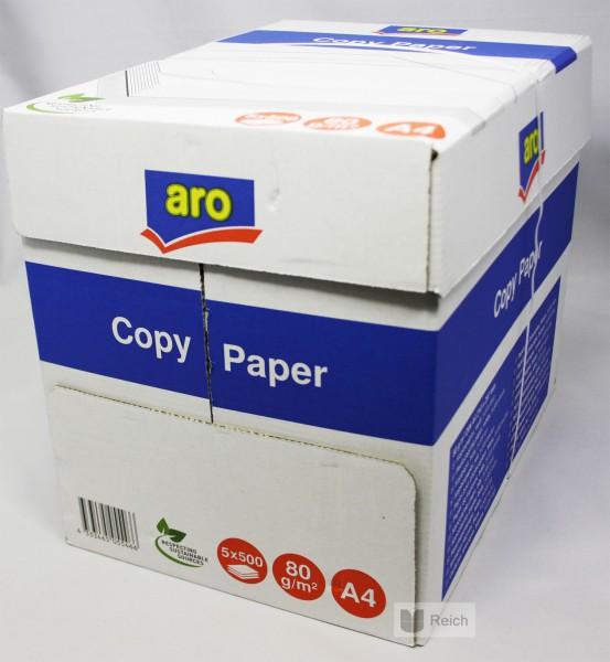 2500 blatt aro kopierpapier wei 80 g m din a4 5 x 500 blatt b robedarf. Black Bedroom Furniture Sets. Home Design Ideas